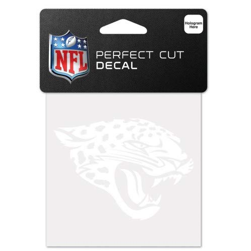 - WinCraft NFL Jacksonville Jaguars 4x4 Perfect Cut White Decal, One Size, Team Color