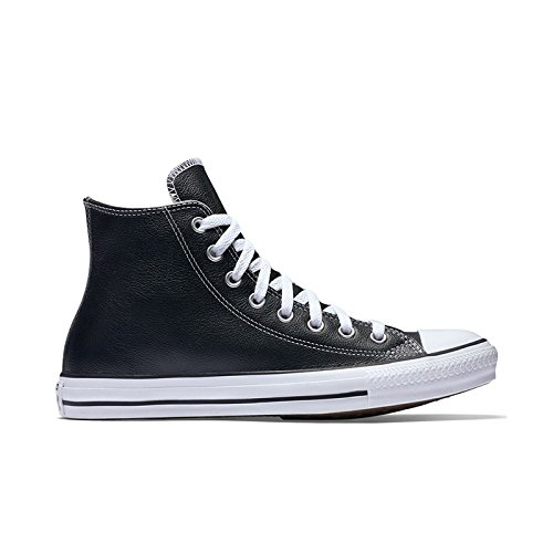 Converse Chuck Taylor All Star Leather High Top Sneaker, Black, 12 M US -