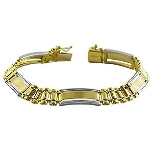Men's 10k Two-Tone Gold Bracelet (8.5 mm, 8.25 inch)