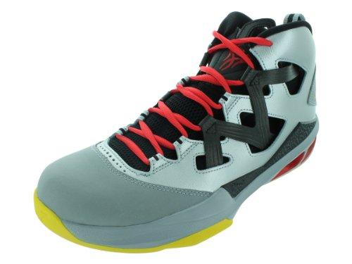Nike Men's NIKE JORDAN MELO M9 BASKETBALL SHOES 8.5 Men US (MTLLC SLVR/TR YLLW/BLK/CHLLNG)