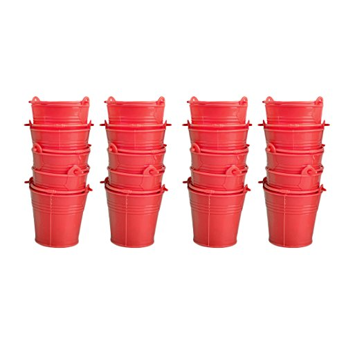 Candy Buckets,Hmane 20Pcs Mini Cute Colorful Candy Buckets Pails - Red