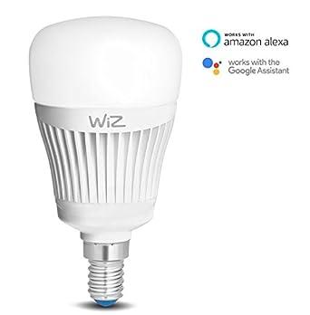 Bombilla LED WiZ inteligente con conexión WiFi, tipo vela E14, luz blanca y de