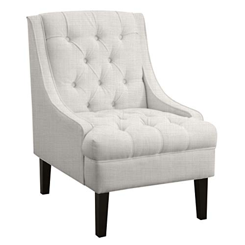 Ravenna Home Jase Slope Tufted Accent Chair, 29.9