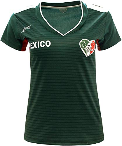 Arza Sports Women Mexico Fan Jersey 2018 Color Green