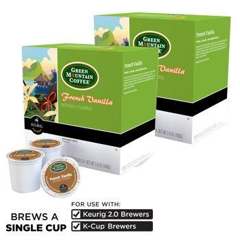 Green Mountain Coffee French Vanilla Coffee 180 K-Cup Packs by Green Mountain Coffee