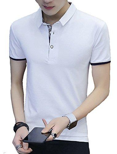 FansX Tシャツ メンズ ポロシャツ メンズ 半袖 作業着 夏 無地 ゴルフウェア