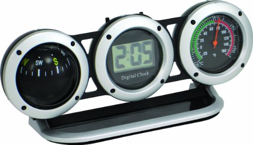 Bell Automotive 22-1-29015-8 Combo Clock, Compass and Thermometer (Mount Compass Dash)