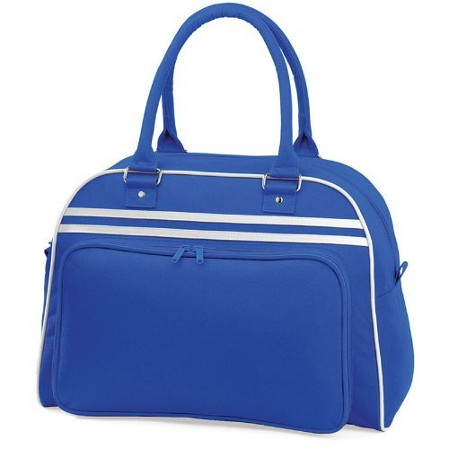 BagBase Retro Colours Bowling Bag Bright Royal/White