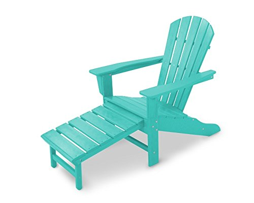 Aruba Recycled Plastic Materials (Polywood HNA15AR Palm Coast Adirondack Chair, Aruba)