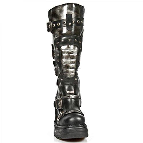 New Rock Boots M.8353-c1 Hardrock Punk Gotico Damen Stiefel Schwarz