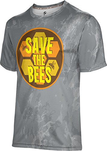 ProSphere Men's Save the Bees Causes Marble Shirt (Apparel) - Save Donation Bees The
