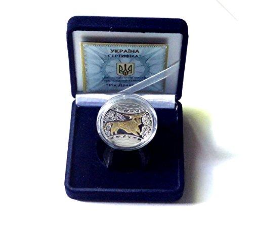 [Silver Coin 2009 Ukrainian 24k Golden Bull] (Bulls 24k Gold Coin)
