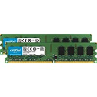 Crucial 4GB Kit (2GBx2) DDR2 800MHz (PC2-6400) CL6 Unbuffered UDIMM 240-Pin Desktop Memory CT2KIT25664AA800 / CT2CP25664AA800