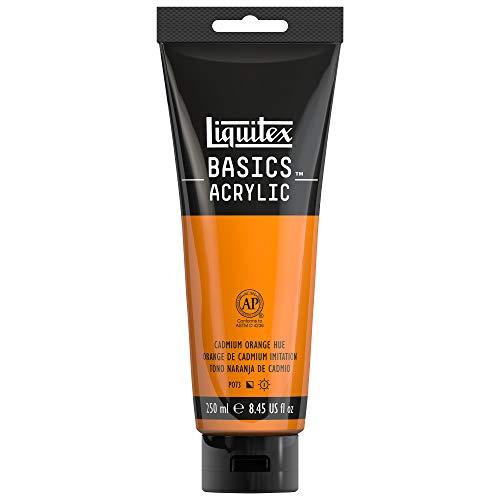 Liquitex BASICS Acrylic Paint, 8.45-oz tube, Cadmium Orange Hue ()