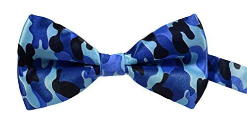 MENDENG Men's Classic Camouflage Pre Tie Bow Ties Wedding Adjustable -