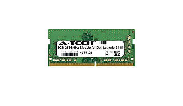 A-Tech 16GB Module for Dell Latitude 3580 Laptop /& Notebook Compatible DDR4 2666Mhz Memory Ram ATMS278238A25832X1