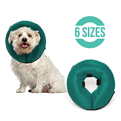 ProCollar Protective Inflatable Recovery Collar for Dogs and Cats - Soft Pet Cone Does Not Block Vision E-Collar - Designed to Prevent Pets from Touching Stitches, Wounds and Rashes - Procollar Inflatable