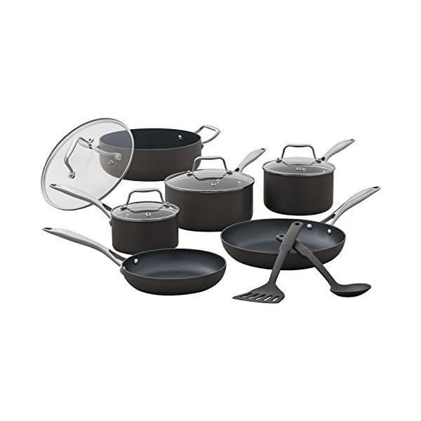 Amazon Brand – Stone & Beam Kitchen Cookware Set, 12-Piece, Pots and Pans, Hard-Anodized Non-Stick Aluminum 1
