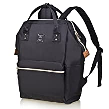 Bebamour Unisex Diaper Bag Backpack with Changing Pad Back to Business Backpack,Black
