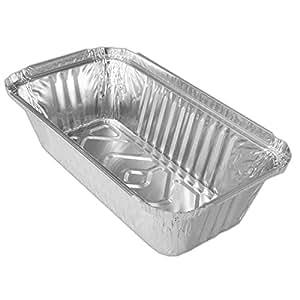 200De Aluminio recipiente rectangular 690ml. Moldes/leberkäss Chalen/Lasaña de fuentes de/rollo de cajas