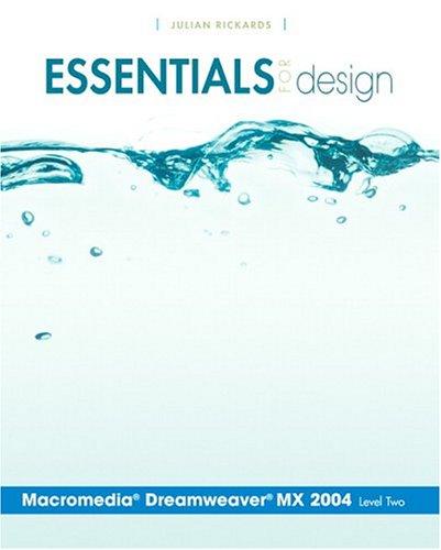 Essentials for Design Macromedia Dreamweaver MX 2004- Level 2
