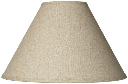 Fine Burlap Empire Shade 6x17x11.5 (Spider) by Brentwood