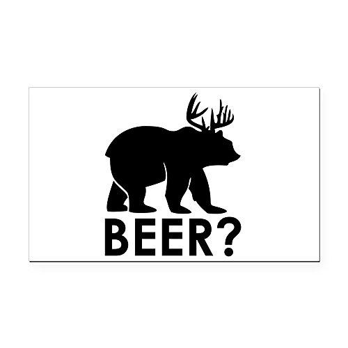 Rectangle Car Magnet Deer Plus Bear Equals BEER!