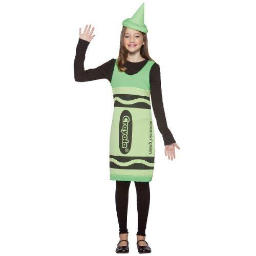 [Crayola Crayon Tank Dress Costume - Tween by Rasta Imposta] (Red Crayon Tank Dress Costume)