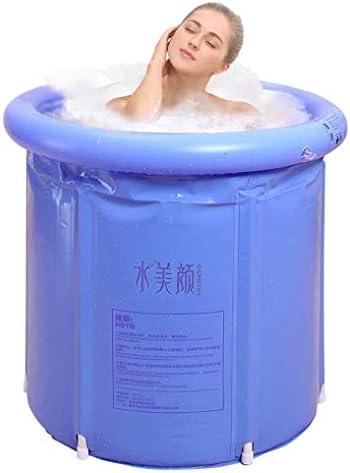 G Ganen Unisex Portable Foldable 3 Layer PVC SPA Bathtub Freestanding Bathtub
