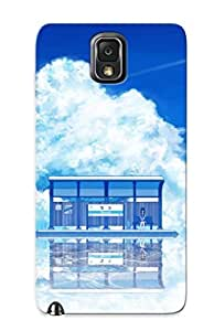 Galaxy Note 3 Hard Back With Bumper Silicone Gel Tpu Case Cover Waiting In The Bus Stop