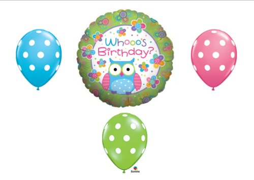 Whooo's Birthday OWL PARTY Balloons Decorations Supplies Teen Girl -