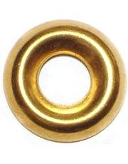 Hard-to-Find Fastener 014973436612 Finishing Washer Brass, 10, Piece-125