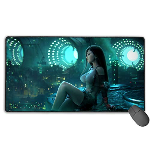 Final Fantasy-Tifa Non-Slip Mouse Pad Rectangle Rubber Gaming Mouse Pad Anime Mouse Pad 30x15.7 Inch(75x40 cm) (Fantasy Mouse Final)