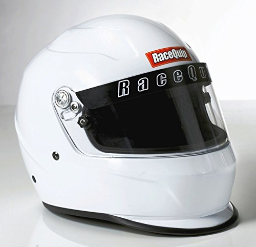 RaceQuip 273111 Gloss White X-Small PRO15 Full Face Helmet (Snell SA-2015 Rated)