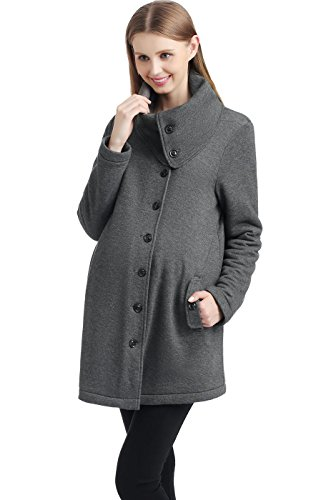 Momo Maternity Sherpa Lined Sweatshirt Coat - XS