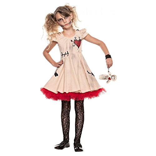 [Sweet Spooks VooDoo Magic Costume Girls Child Gothic Doll Fancy Dress Halloween] (Toucan Nose Costume)