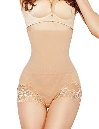 7f56efbe7373 MUKATU Women High Waist Slimming Tummy Control Panties Seamless Briefs  Shapewear Magic Body Shaper: Amazon.co.uk: Clothing