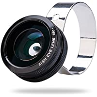 Orbmart 3in1 Universal Fisheye Lens + Wide Angle Lens + Macro Lens Camera Lens for Iphone 6 Plus 5 5s 5c 4s Ipad Mini Tablet Samsung Galaxy S5 S4 S3 iii Note 4 3 2 LG Blackberry Sony Xperia Motorola