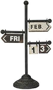 Clayre y fed 5Y0167 decorativa calendario soporte aprox 36 x 19 x 61 cm