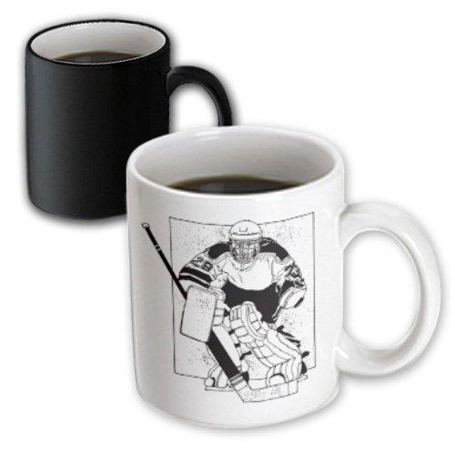 3dRose mug_26014_3 Hockey Player Magic Transforming Mug, (Hockey Mug)