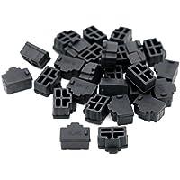 iExcell 100 Pcs Black Ethernet Hub Port RJ45 Anti Dust Cover Cap Protector Plug