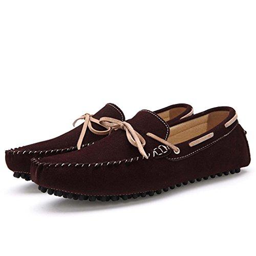 ZXCV Zapatos al aire libre Zapatos de los hombres, guisantes, zapatos, zapatos, zapatos que caminan, zapatos británicos, zapatos simples, zapatos ocasionales Marrón