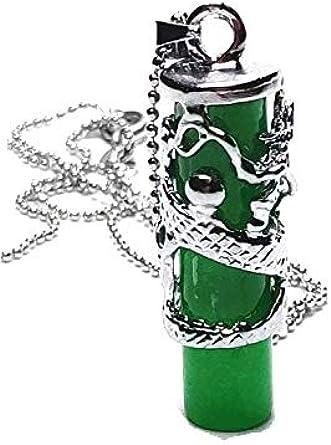 Yigedan Tíbet - Collar con colgante de dragón verde de jade natural