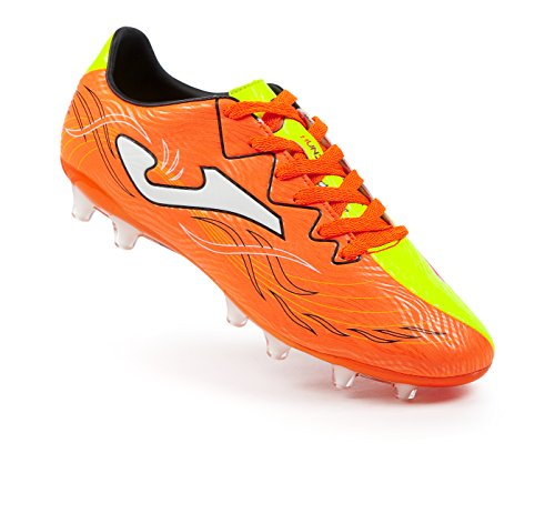 Bota de fútbol Joma Super Copa Speed FG Blanco-Negro-Rojo orange-neongelb