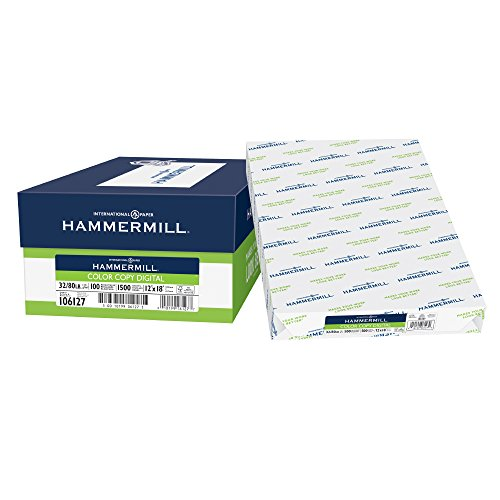 Hammermill Paper, Color Copy Digital, 32lb, 12 x 18, 100 Bright, 1500 Sheets / 3 Ream Case (106127C), Made In The USA