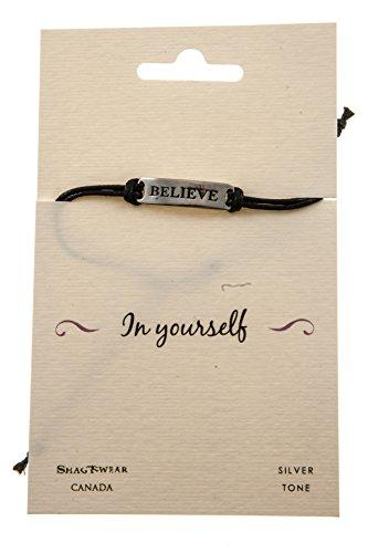 Shagwear Inspirational Stamped Metal Bracelet
