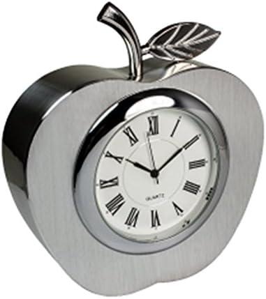 Metal Apple Clock Silver