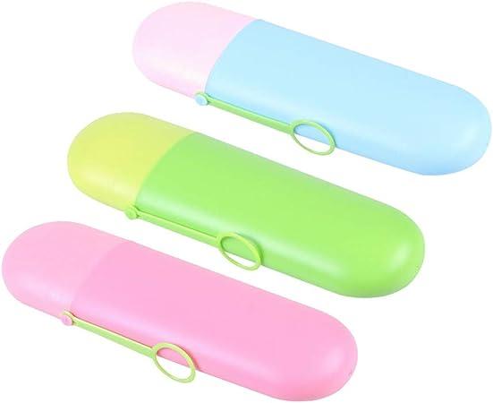 TOPBATHY Estuche para Cepillo de Dientes contenedor de artículos de tocador portátiles, Cepillo de Dientes Creativo y Pasta de Dientes (Color Mezclado): Amazon.es: Hogar