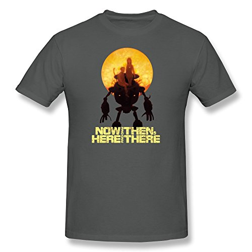 LongRVEA Men's Now And Then,Here And There Shirts Large DeepHeather