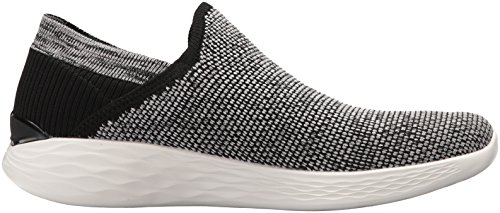 Rise Enfiler Femme Skechers Baskets Noir You White Black 7axnB85w